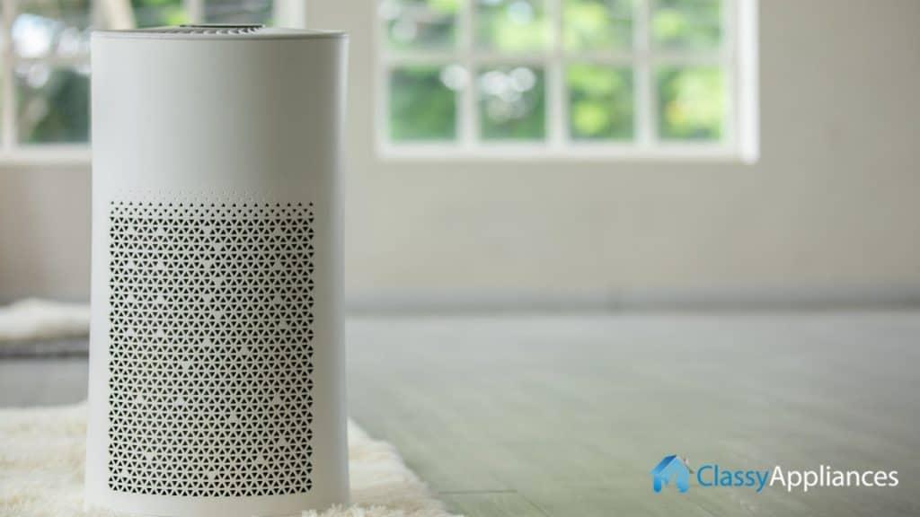 Air Purifier Near Window Living Room