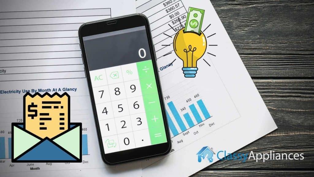 energy bill paper mobile calculator